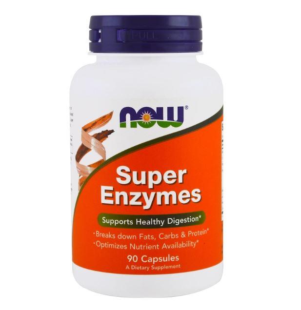 Купить Супер Энзимы Super Enzymes, Супер Энзимы, 90 капсул, NOW
