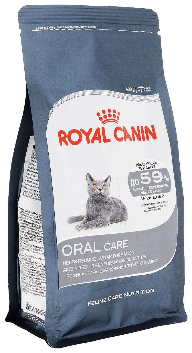Сухой корм для кошек ROYAL CANIN Oral Care, для защиты полости рта, 0,4кг фото