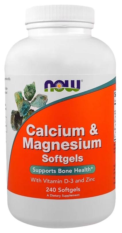 Кальций NOW Calcium&Magnesium 240 капс.