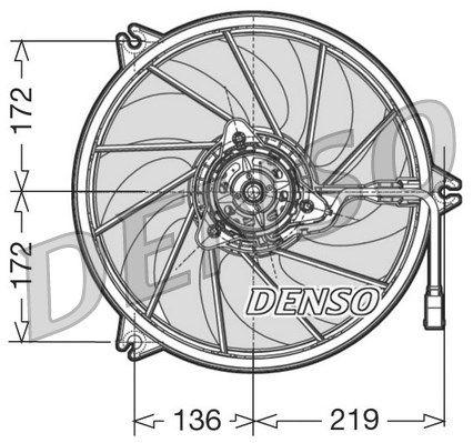 Вентилятор охлаждения двигателя DENSO DER21008