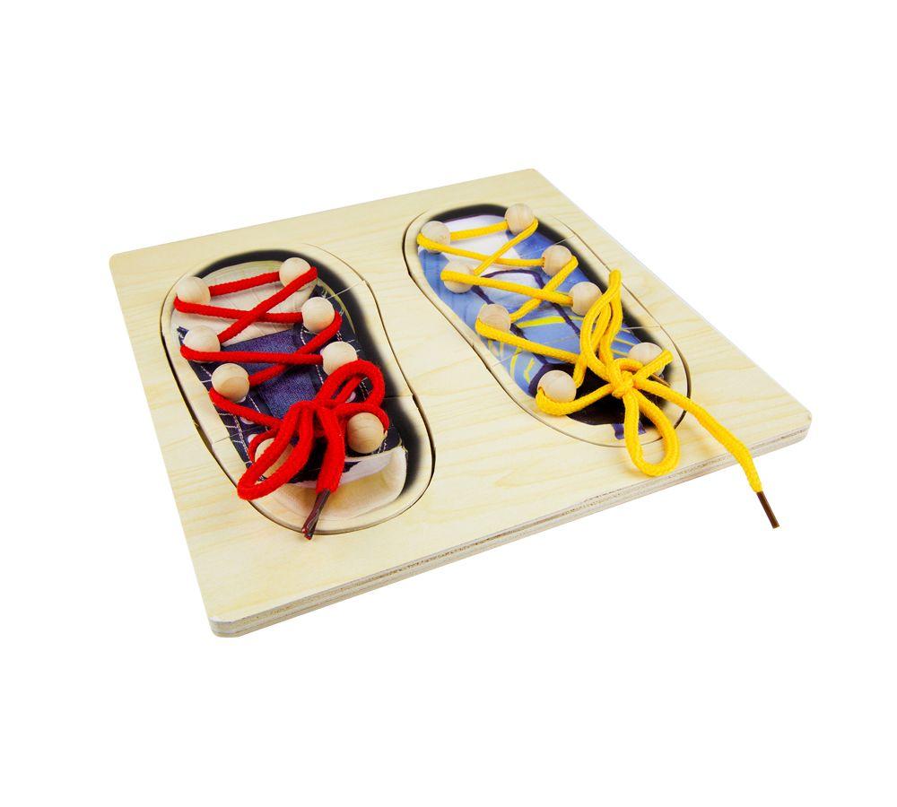 Купить Развивающая игрушка Винтик и Шпунтик Пазл зашнуровать обувь, Шнуровки для детей