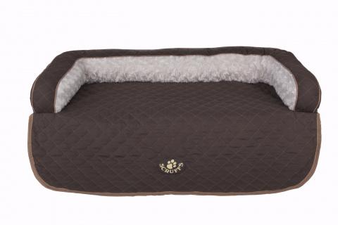 Лежак на диван Scruffs Wilton 70 х 65 х 12 коричневый