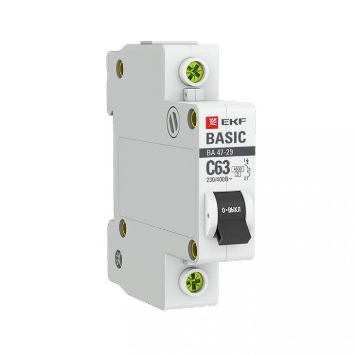 Автоматический выключатель EKF 1P 32А (C) 4,5кА ВА 47-29 Basic