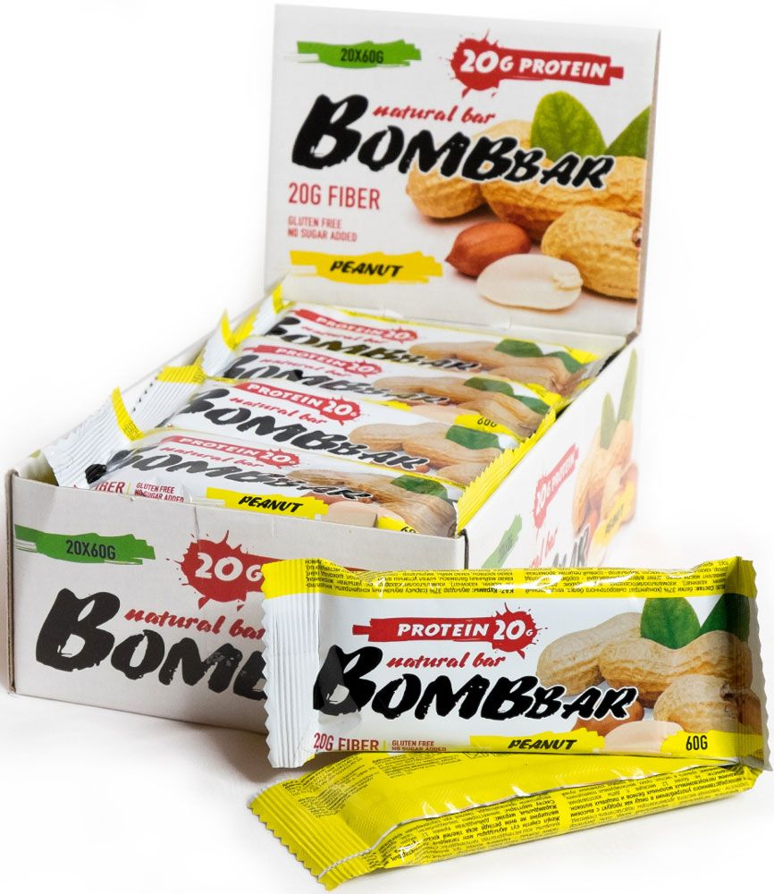 Протеиновый батончик Bombbar Bombbar Box (20 шт.),
