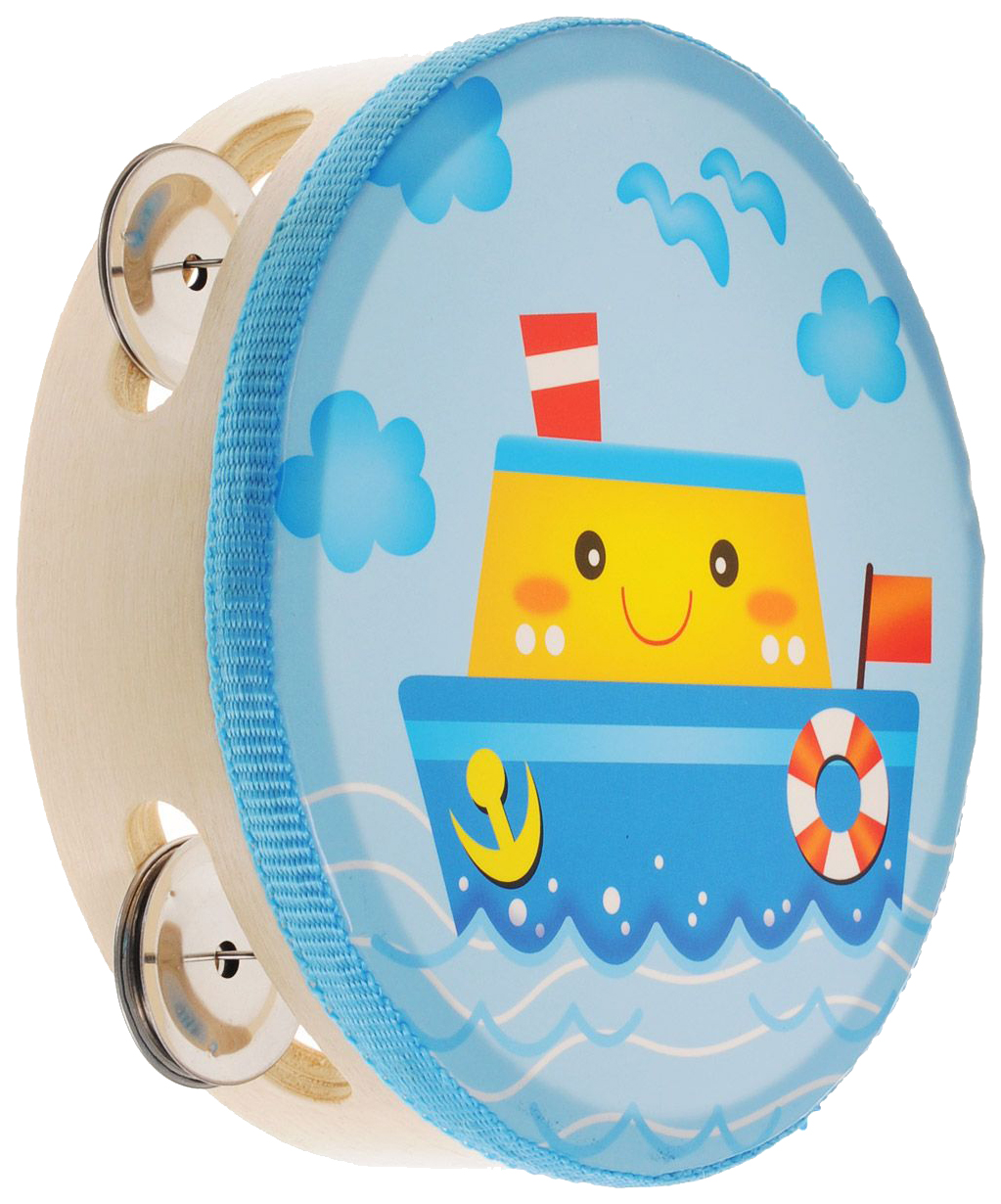 Купить Бубен игрушечный Мир деревянных игрушек Д212 в ассортименте, Мир Деревянных Игрушек, Детские музыкальные инструменты