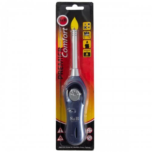 Зажигалка бытовая газовая для газовой плиты синяя PREMIER COMFORT