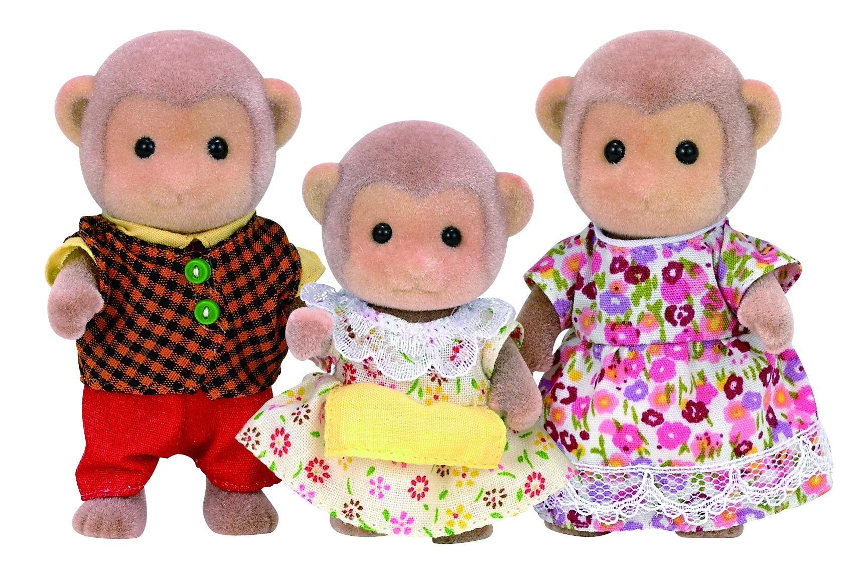 Игровой набор sylvanian families семья обезьян, 3 фигурки