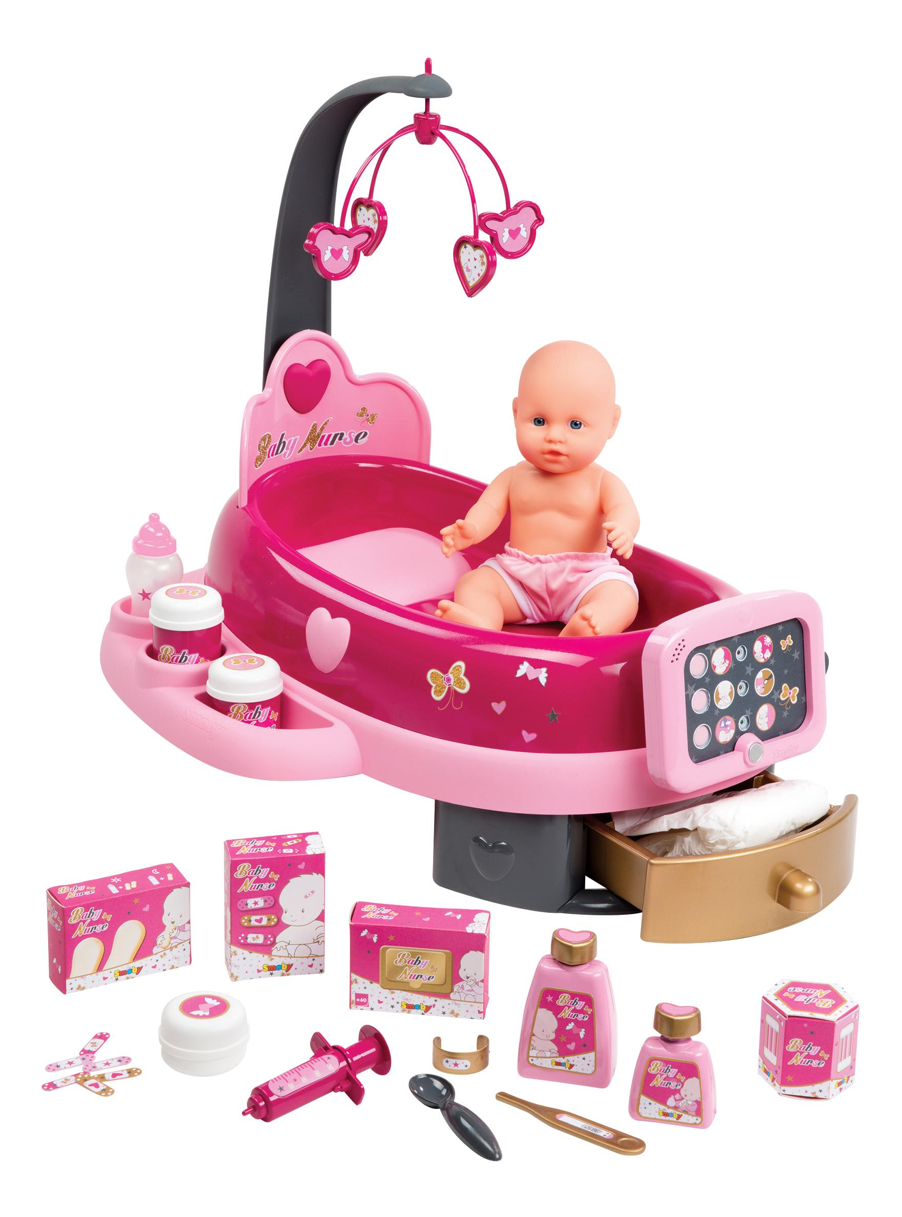 Купить Набор по уходу за куклой, свет, звук, 39*54*50 см, 1/2, Smoby, Игровые наборы