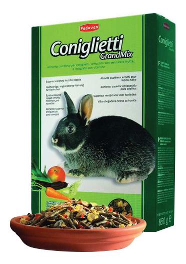 Корм для молодых кроликов Padovan Junior Conglietti, 0,85 кг
