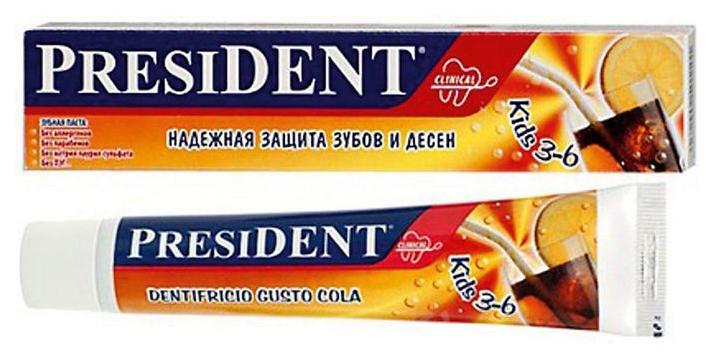 Детская зубная паста President Детская З/п Kids 3-6 50Мл Sss
