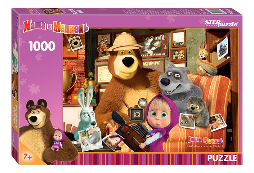 Купить Маша и Медведь, Пазл Step Puzzle маша и медведь 1000 деталей,