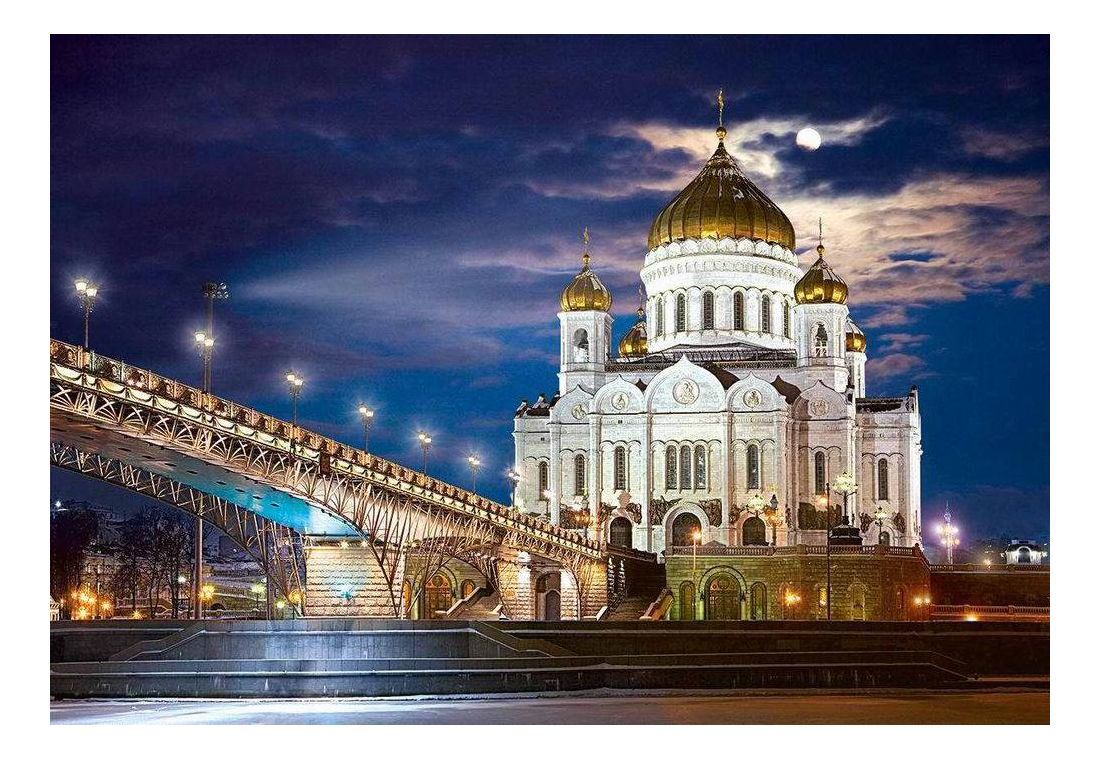 Купить Храм Христа Спасителя, Пазл Castorland Храм Христа-Спасителя 1500 деталей, Пазлы