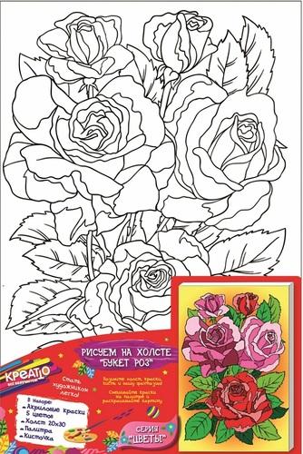 Роспись по холсту РОСМЭН Букет роз (31253) фото