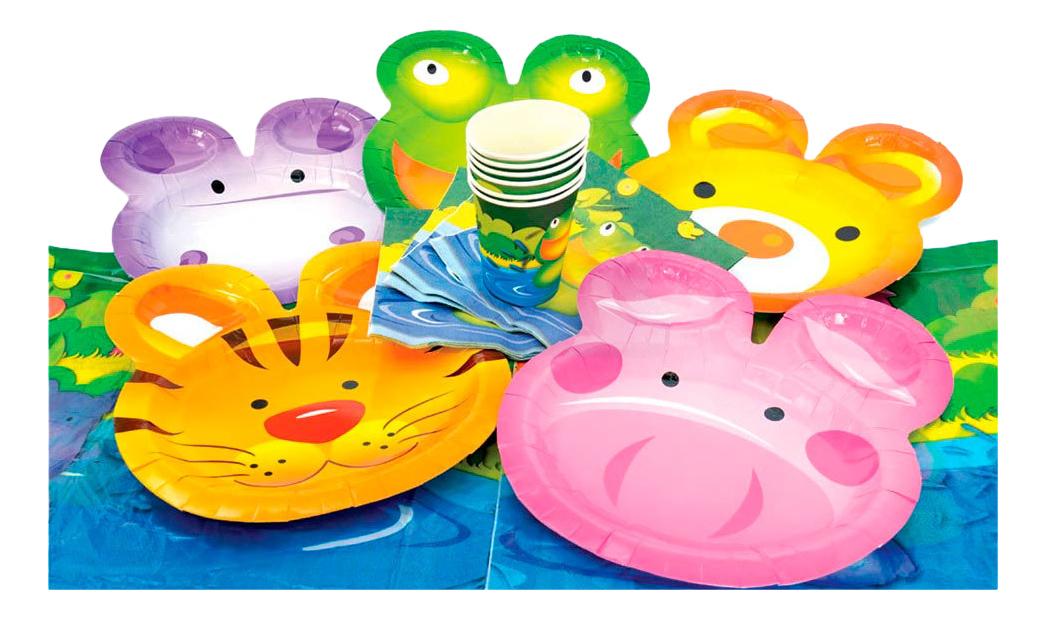 Набор детской посуды ACTION! Веселые живоные Action!