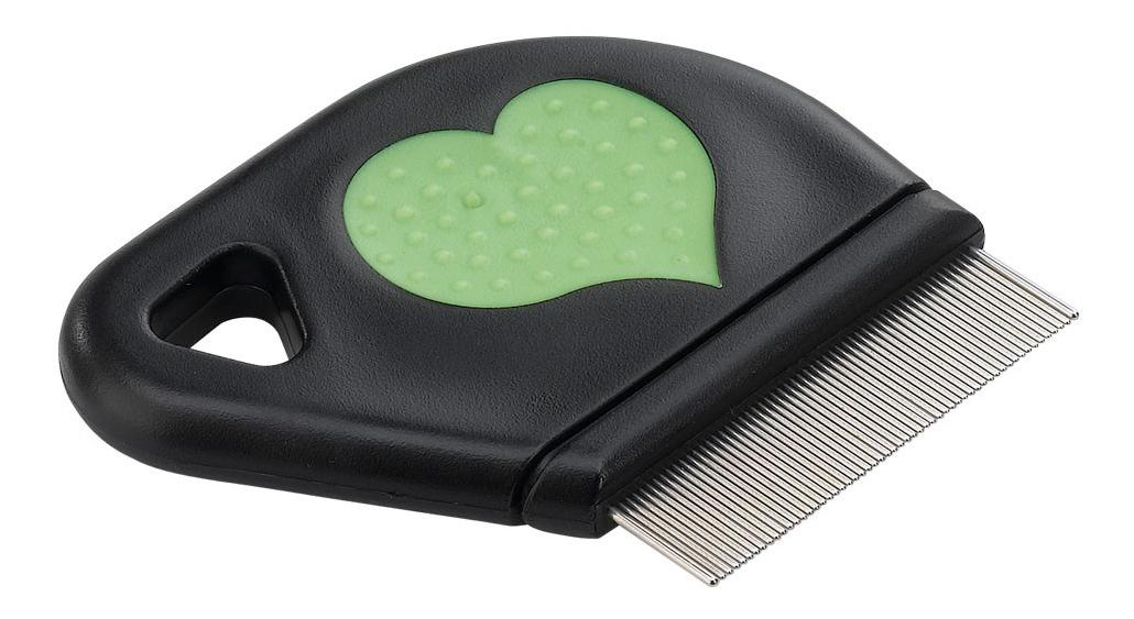Расческа для кошек Ferplast металл, цвет зеленый,