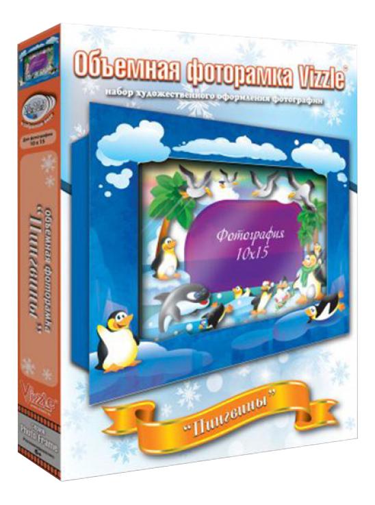 Аппликация из картона Vizzle Пингвины