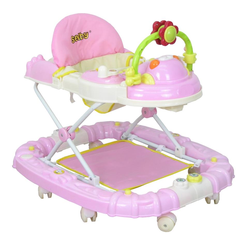 Купить Ходунки детские Тополь Selby BS-229 (1) розовый/белый