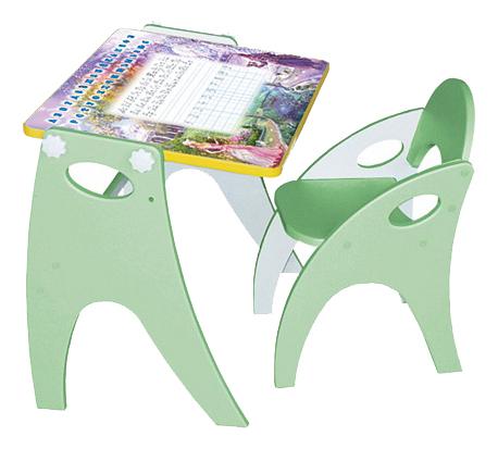 Комплект детской мебели ИНТЕХПРОЕКТ Зима лето салатовый