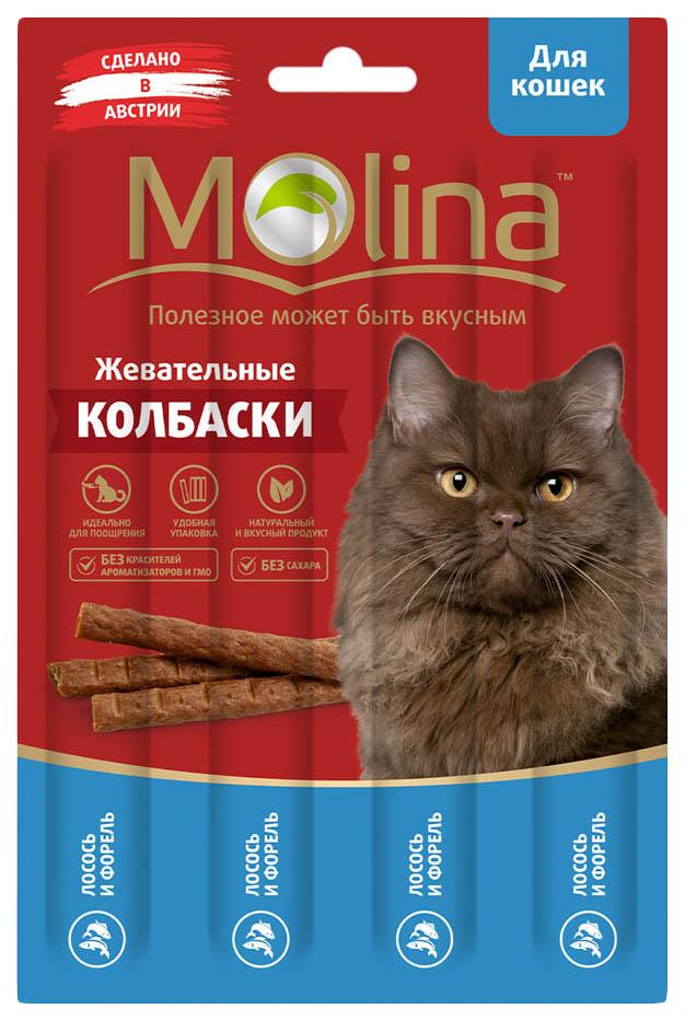 Лакомство для кошек Molina, лосось, форель, 1шт, 0,02кг
