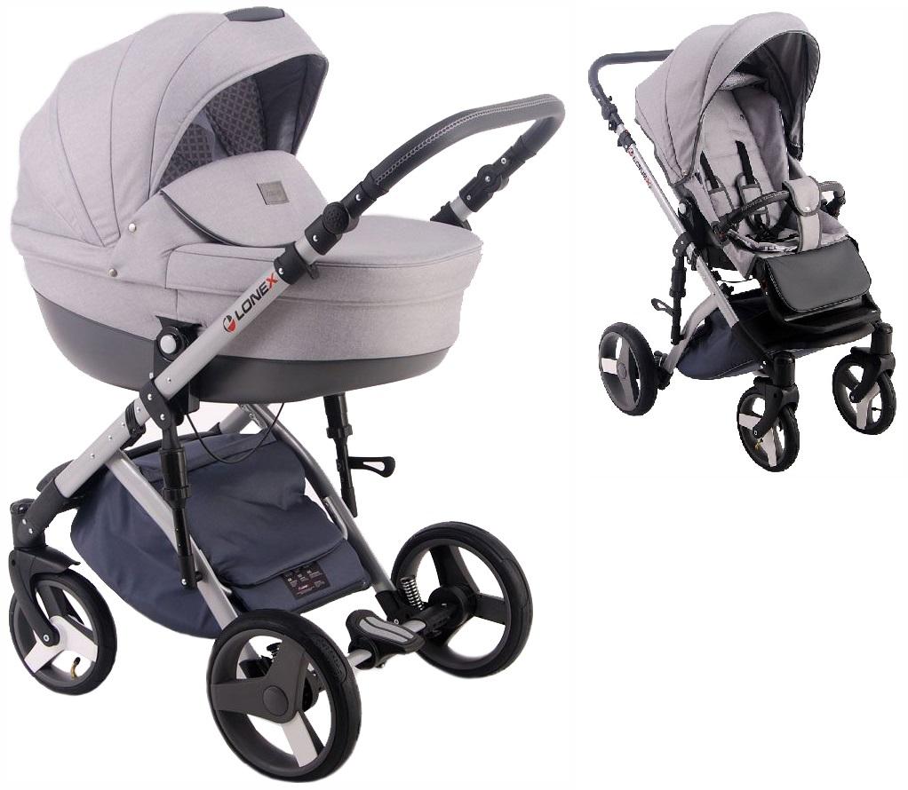 Купить Коляска 2 в 1 Lonex Comfort Prestige Light grey COMF-L-04, Детские коляски 2 в 1