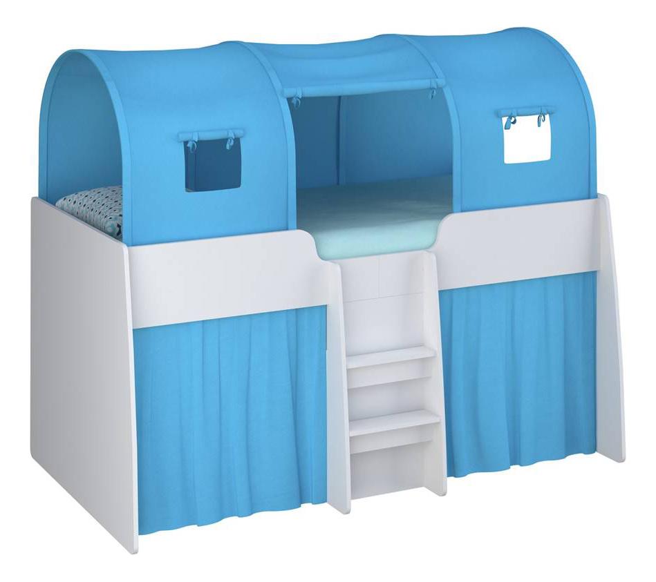 Игровой тент для кровати-чердака Simple 4100 голубой Polini 0001592.1