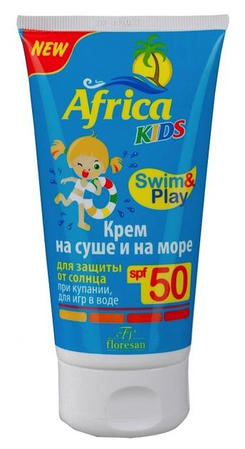 Крем для защиты от солнца Floresan Africa Kids на суше и на море SPF 50 150 мл