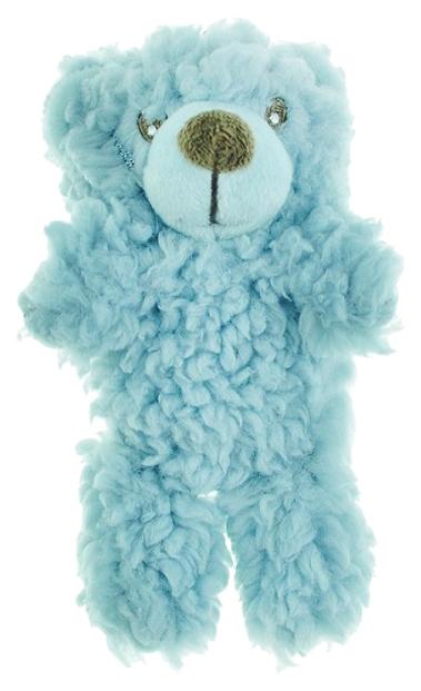 Мягкая игрушка для собак Aromadog Мишка малый, голубой, 6 см фото