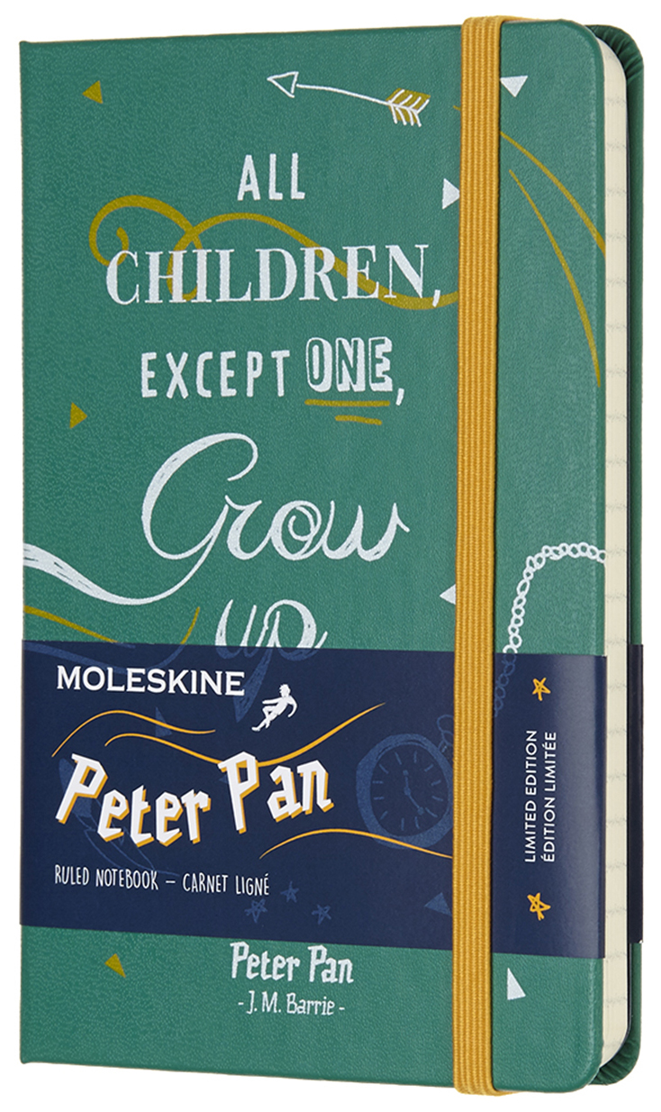 Блокнот Moleskine Peter Pan Pocket Limited Edition, цвет зеленый Indians, в линейку