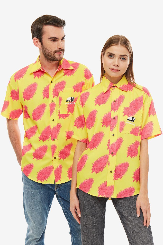 Рубашка мужская YMKASHIX желтая