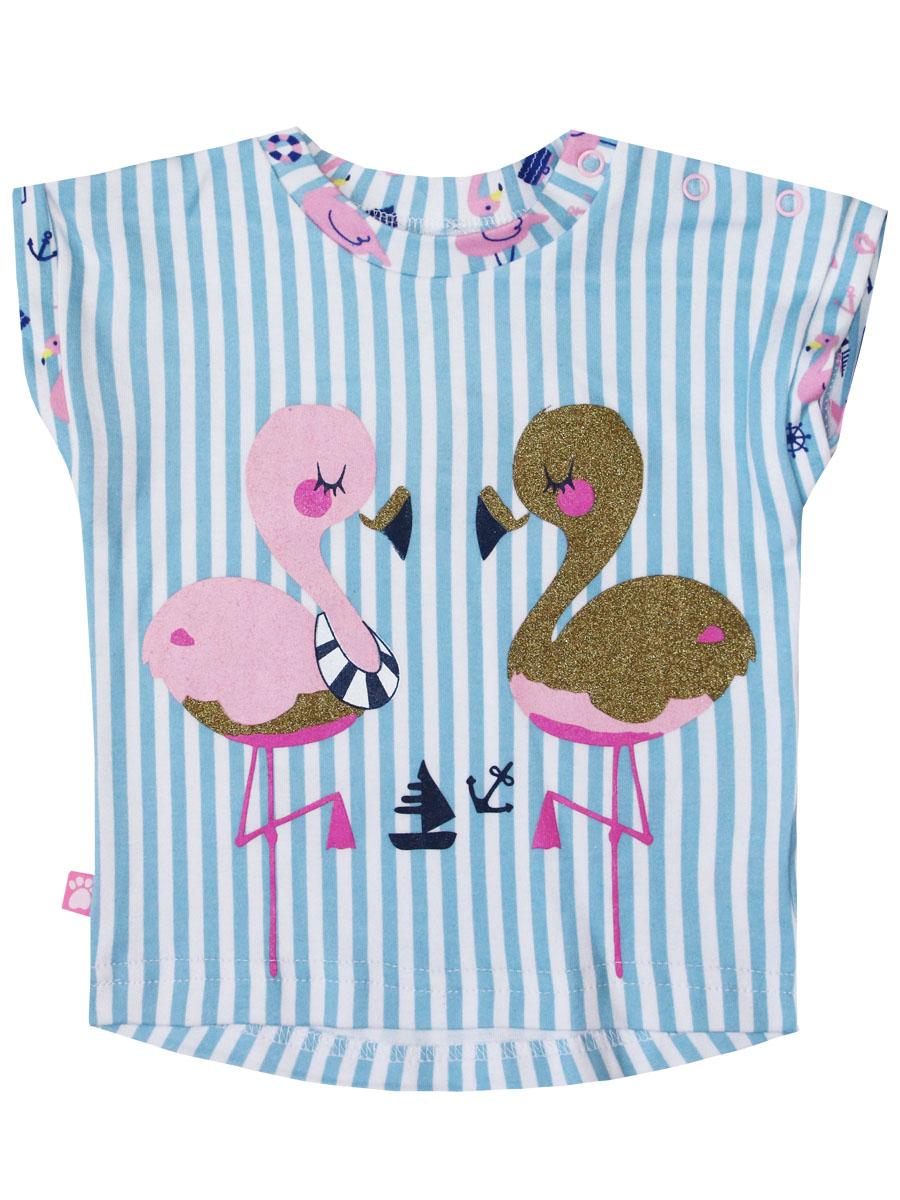 Купить 77103, Футболка детская КотМарКот Фламинго, 86 р-р, Кофточки, футболки для новорожденных