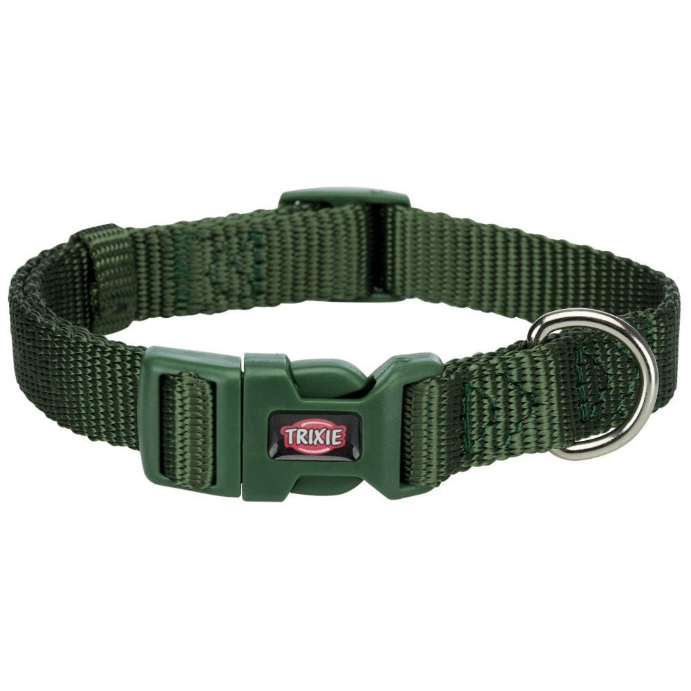 Ошейник для собак TRIXIE Premium, темно-зеленый, XXS–XS, 15–25см, 10мм