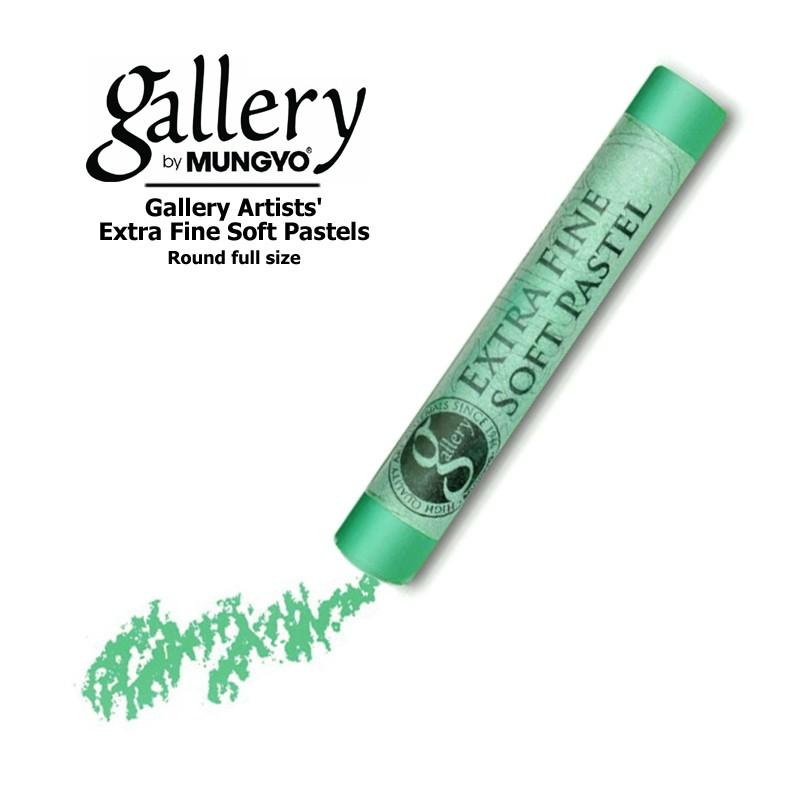 Пастель сухая мягкая круглая Mungyo GALLERY Extra Fine Soft, 527 Изумрудный зеленый