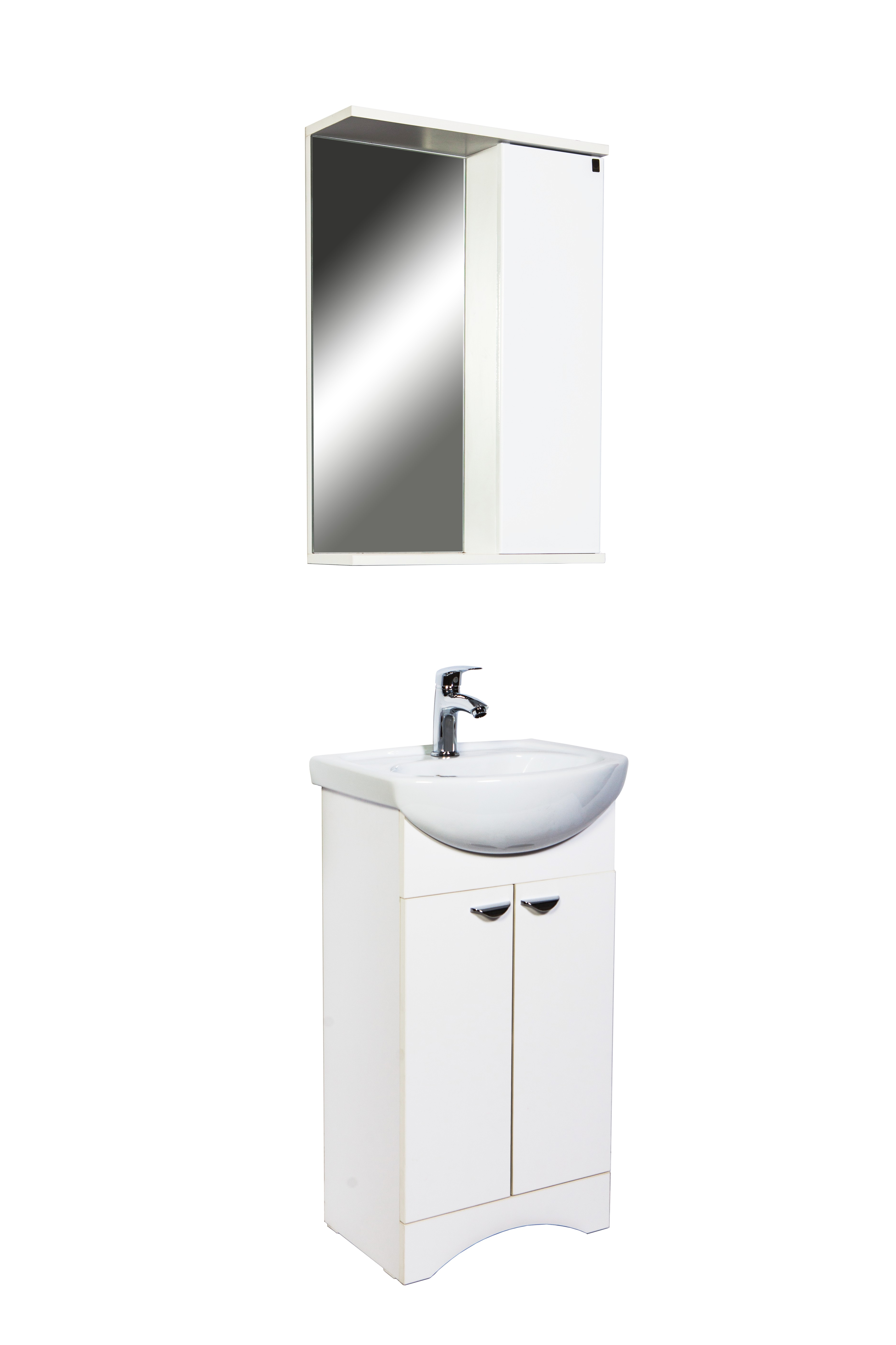 Зеркальный шкаф для ванной Orange Сити 45 Si-45-50ZS