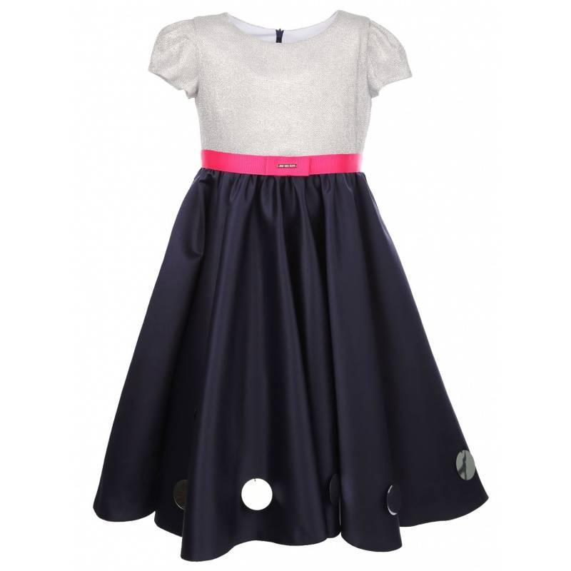Купить 1568, Платье Звездное небо UNONA D'ART, цв. темно-синий, 128 р-р, Платья для девочек