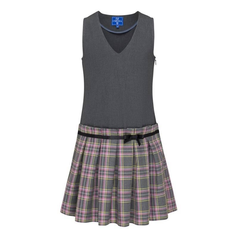 Купить Сарафан Смена, цв. серый, 122 р-р, Детские платья и сарафаны