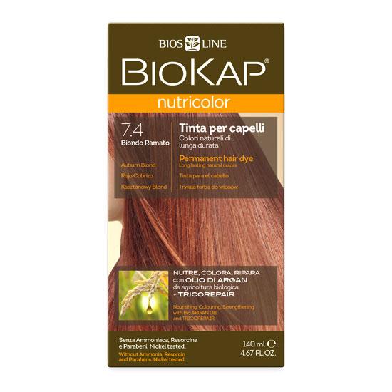 Краска для волос BIOKAP «Медный блондин» тон 7.4, 140 мл