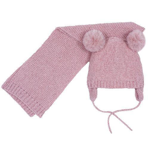 Купить Комплект шапка и шарф Chicco для девочек р.03 цв.розовый, Комплекты головных уборов для девочек