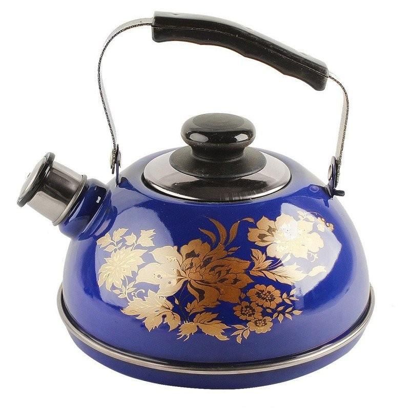 Чайник эмалированный 2,5л синий олимпия