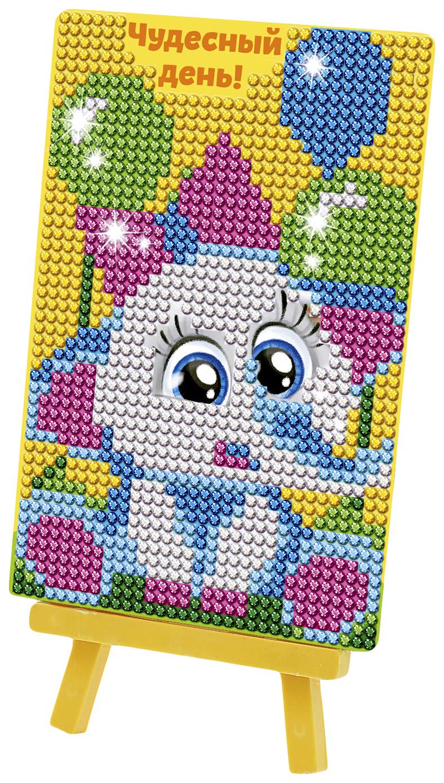 """Алмазная мозаика на подставке """"Чудесный день!"""" для детей, размер 10*15 см Школа талантов"""