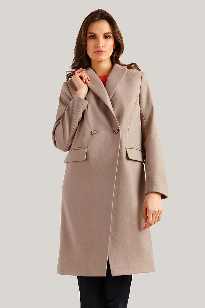Пальто женское Finn Flare B19-11007 коричневое S фото