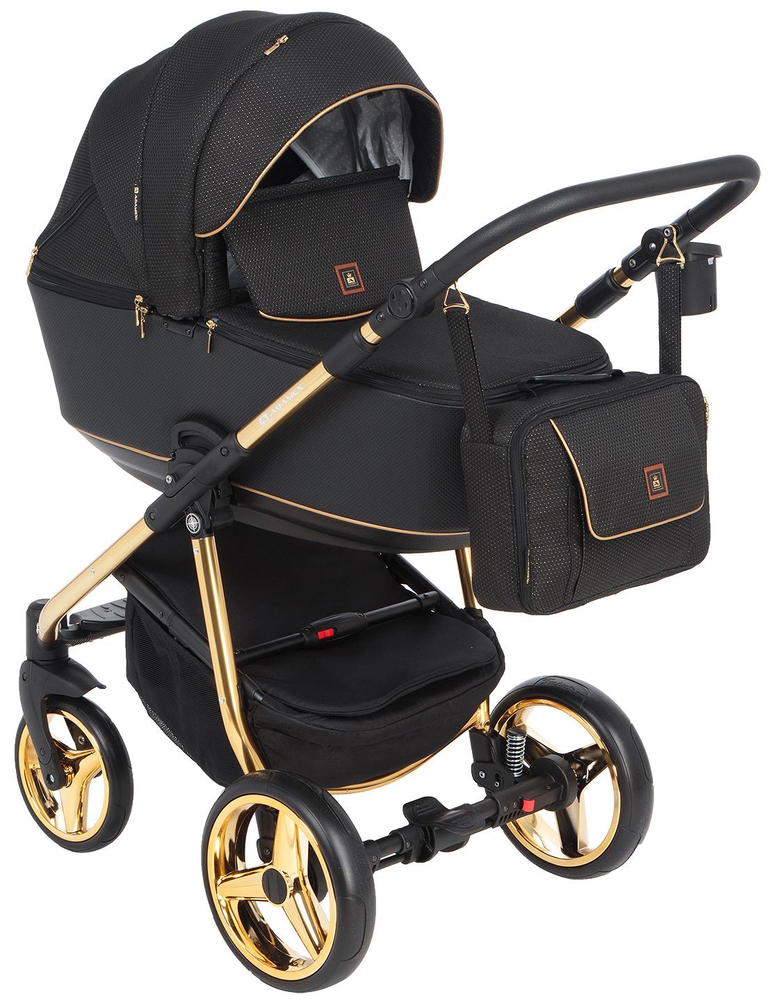 Купить Коляска 3 в 1 Adamex Barcelona special edition BR-442 цвет черный, Детские коляски 3 в 1