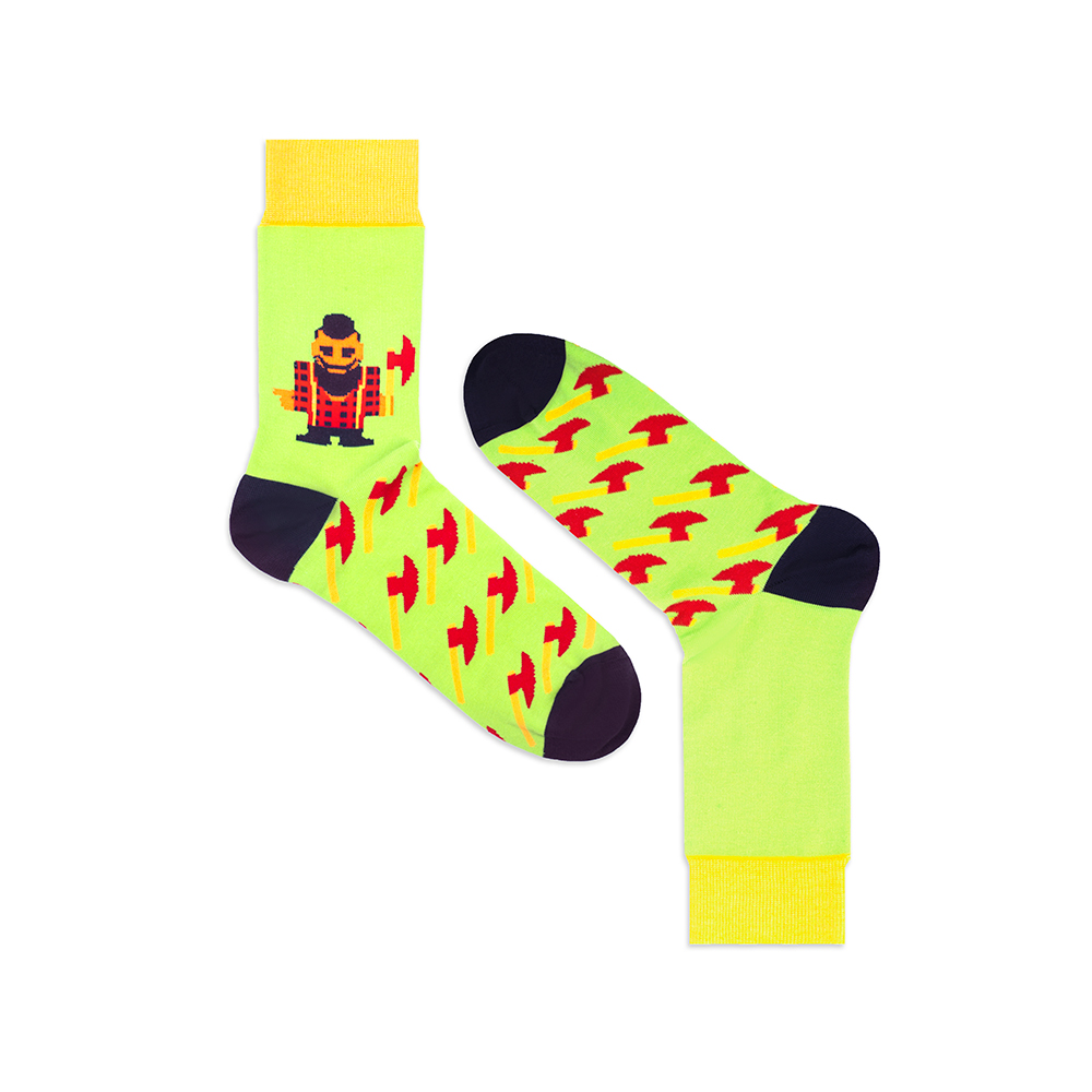 Носки унисекс Burning heels Ламберджек зеленые 36-38