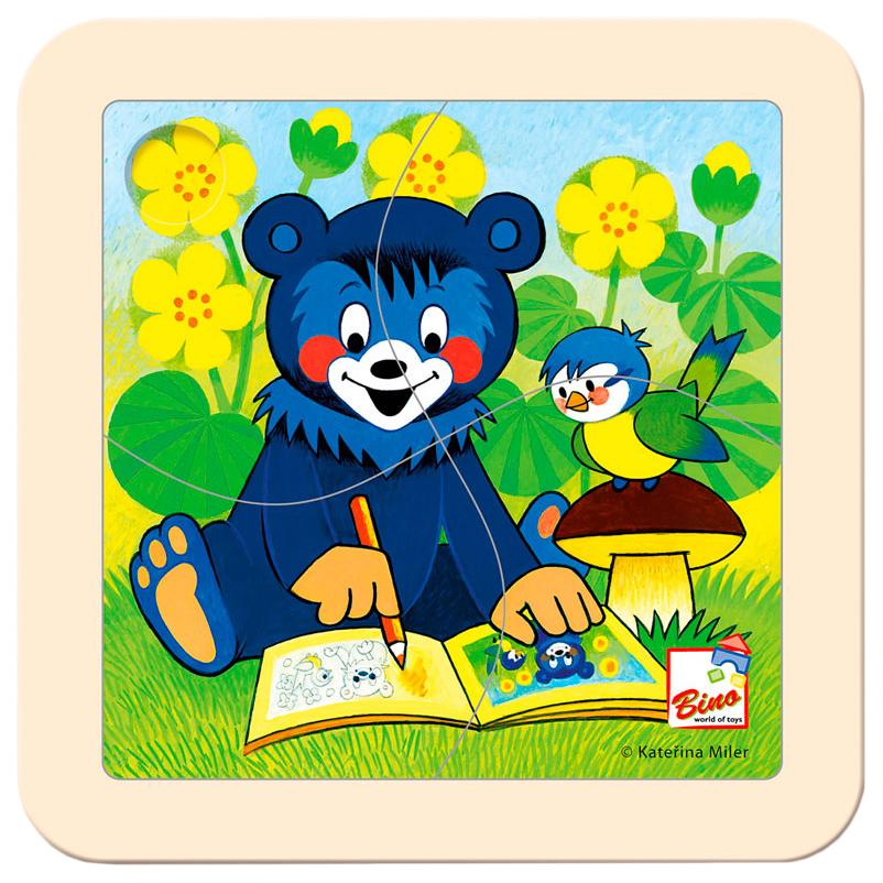 Пазлы Spiegelburg Медвежонок с раскраской 13200 4 детали фото