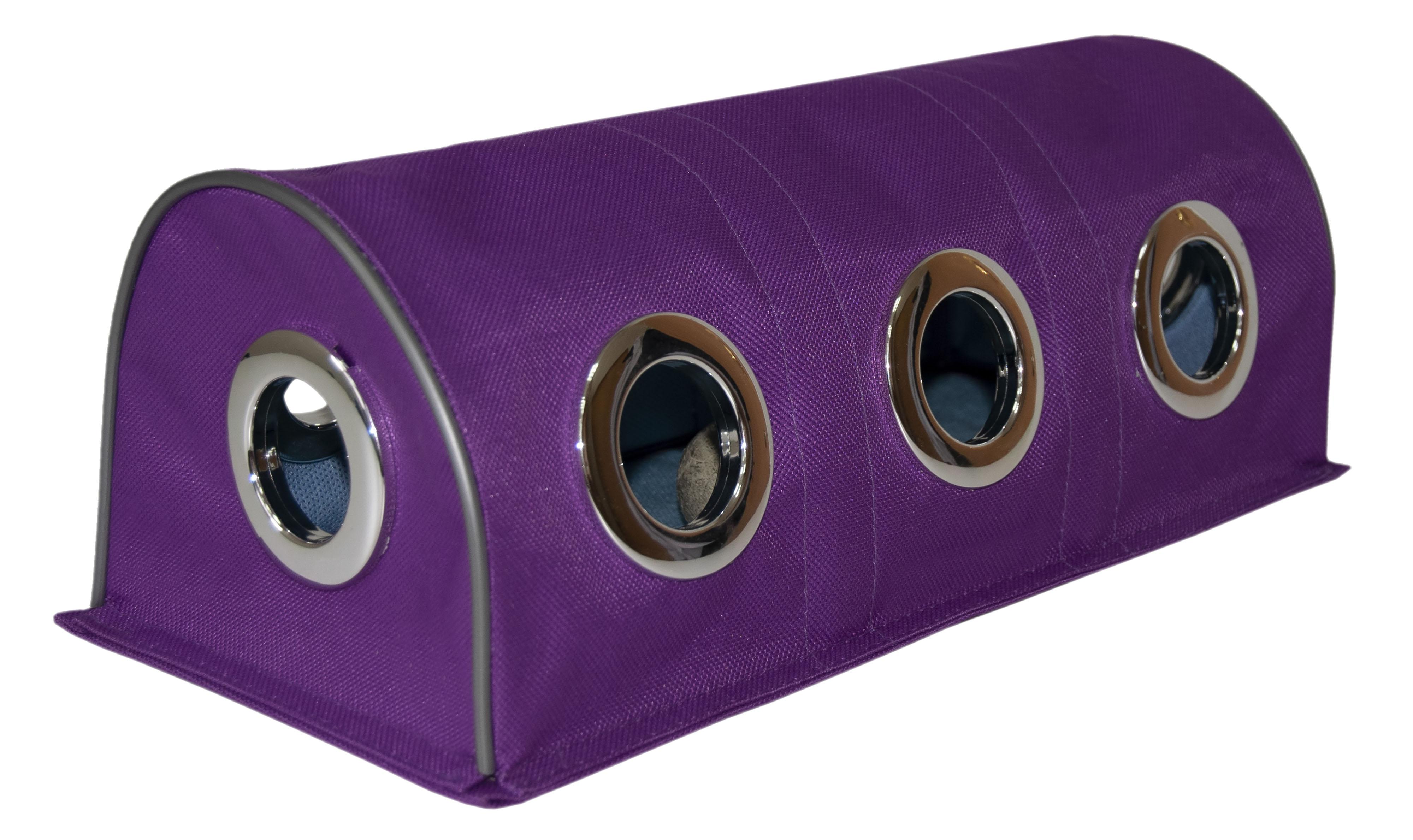 Тоннель для кошек Великий Кот, интерактивная игрушка, с мятным мячиком, фиолетовый