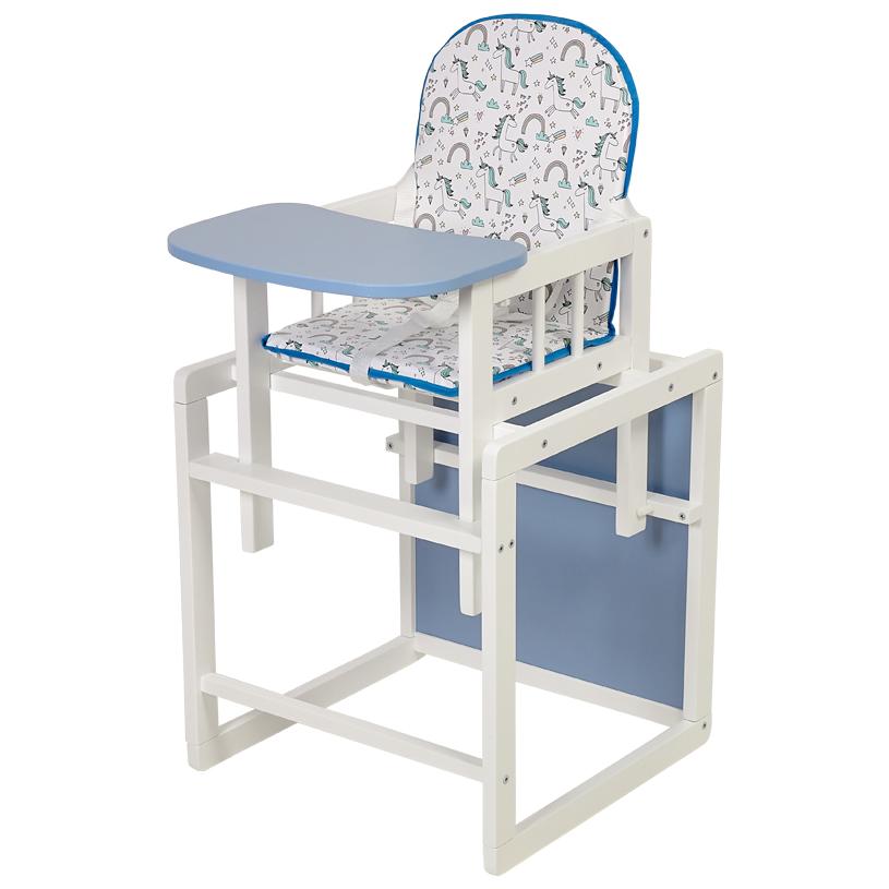 Стул детский трансформируемый Polini kids 255 Единорог Радуга белый/голубой