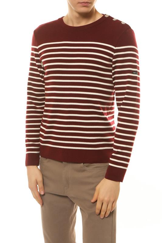 Пуловер мужской Saint James 8696 красный 48 FR фото