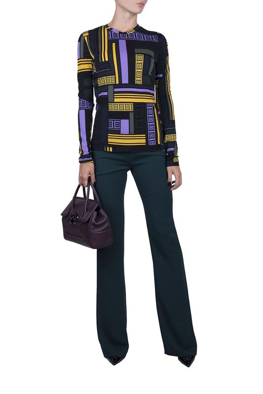 Брюки женские Versace Collection 93763 зеленые 38 IT