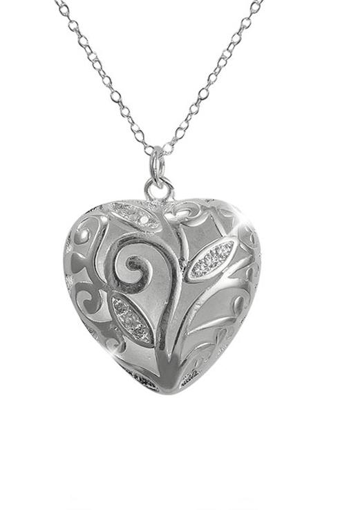 Кулон женский ViviTrend Сердце на цепочке 53003 серебристый фото