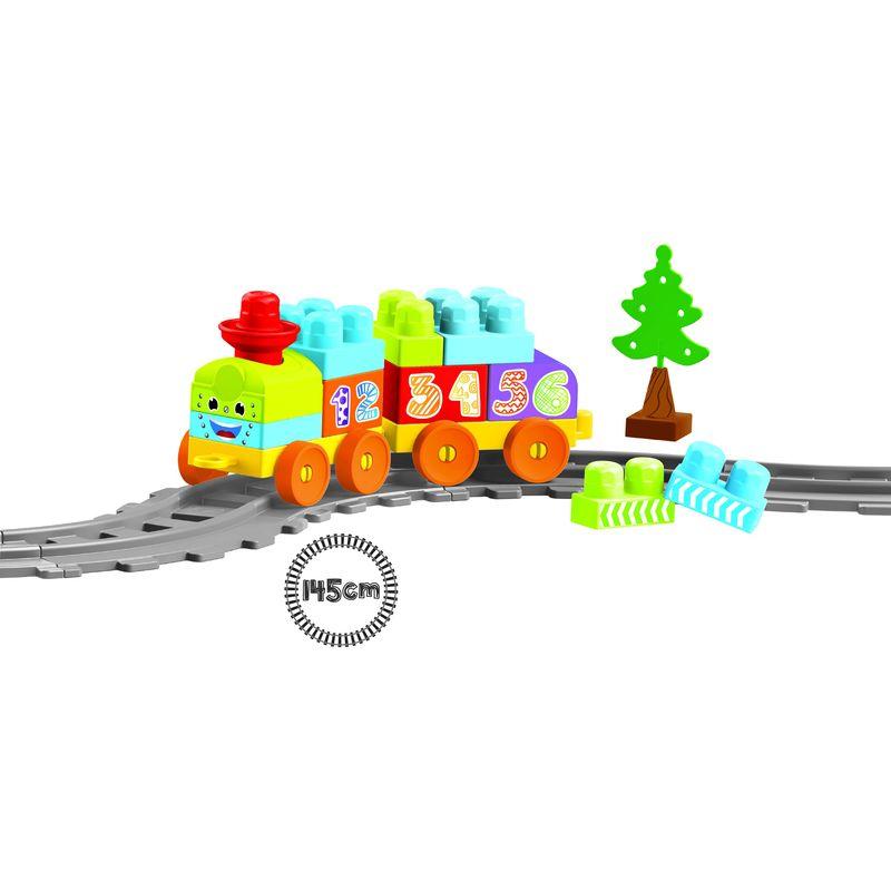 Купить Моя первая железная дорога с конструктором Dolu 36 элементов 145 см DL_5080, Детские железные дороги
