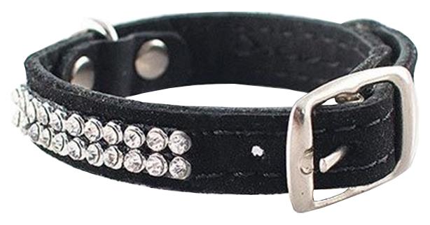 Ошейник для собак Дарэлл Люкс велюр-лайт двухслойный со стразами 28 см 512512